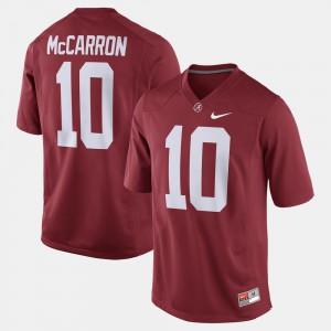 #10 Crimson Alumni Football Game A.J. McCarron Alabama Jersey For Men's 556347-748