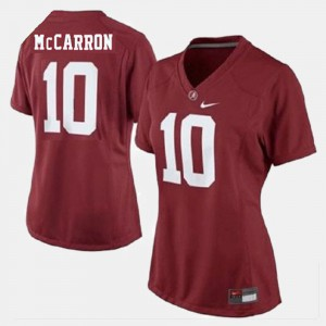 #10 For Women College Football Red A.J. McCarron Alabama Jersey 554739-246