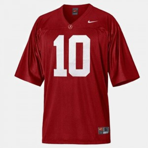 Youth(Kids) #10 College Football A.J. McCarron Alabama Jersey Red 966570-286