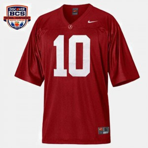 A.J. McCarron Alabama Jersey College Football Red For Men #10 817539-954