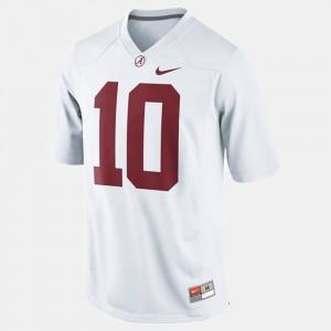 #10 Youth(Kids) College Football White A.J. McCarron Alabama Jersey 760333-975