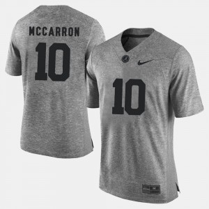 Men Gridiron Limited A.J. McCarron Alabama Jersey Gray Gridiron Gray Limited #10 311147-506