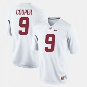 Amari Cooper Alabama Jersey Youth(Kids) #9 White Alumni Football Game 767699-522