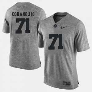 #71 For Men Gridiron Gray Limited Arie Kouandjio Alabama Jersey Gray Gridiron Limited 551113-461