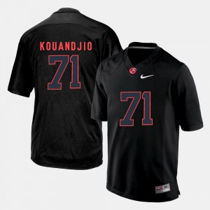 For Men's Arie Kouandjio Alabama Jersey #71 Silhouette College Black 165256-438