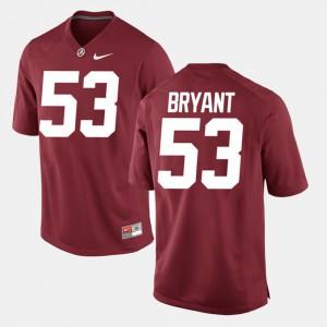 Crimson For Men's #53 Alumni Football Game Bear Bryant Alabama Jersey 949595-373