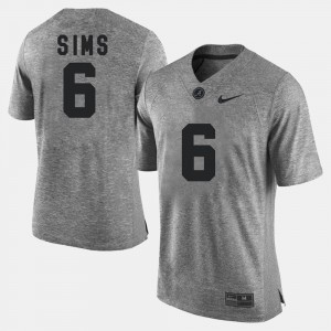 Gridiron Limited Gray #6 Gridiron Gray Limited Blake Sims Alabama Jersey Mens 974251-527