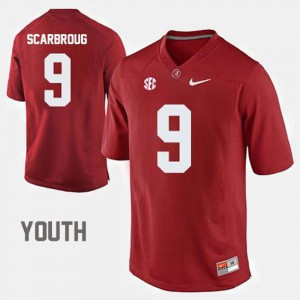For Kids Bo Scarbrough Alabama Jersey College Football #9 Crimson 802839-535