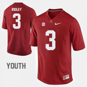 Red Calvin Ridley Alabama Jersey #3 College Football For Kids 404749-852