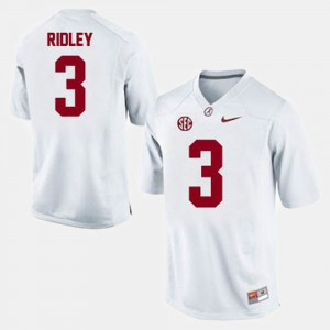 College Football White Calvin Ridley Alabama Jersey #3 For Men's 485244-184