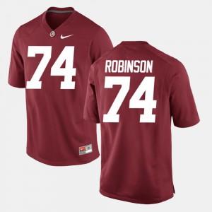 Crimson #74 Cam Robinson Alabama Jersey For Men Alumni Football Game 524114-344