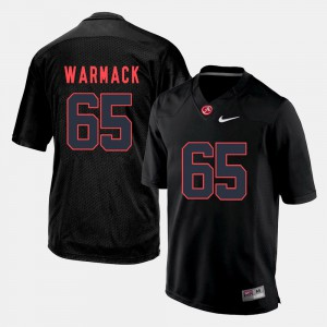 Silhouette College Chance Warmack Alabama Jersey #65 For Men Black 889161-727