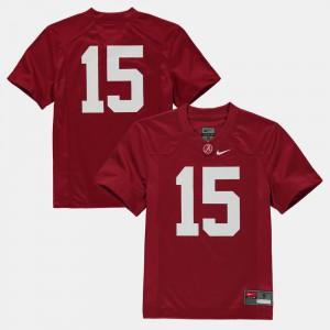 #15 Crimson Alabama Jersey Kids College Football 940096-236
