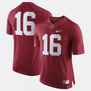 Crimson Mens Alabama Jersey College Football #16 806318-162
