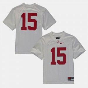 #16 Alabama Jersey Youth College Football White 738612-685