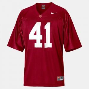 #41 College Football Red Men's Courtney Upshaw Alabama Jersey 865857-270