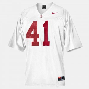 White Courtney Upshaw Alabama Jersey College Football #41 Men's 407924-784