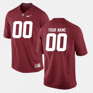 College Football Alabama Customized Jersey Crimson Mens #00 692631-392