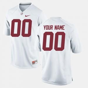 White College Football Alabama Customized Jersey Mens #00 159218-845