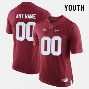 Crimson Alabama Custom Jersey #00 College Limited Football Youth 696725-958