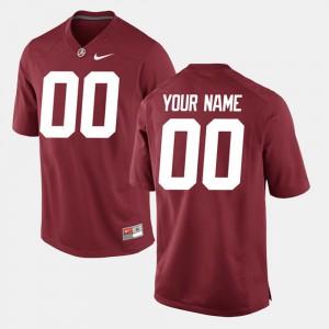 Mens Crimson #00 College Limited Football Alabama Customized Jerseys 310793-344