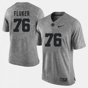 #76 Gridiron Limited Gray Gridiron Gray Limited Mens D.J. Fluker Alabama Jersey 341362-353