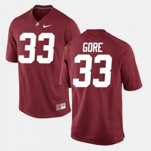 Derrick Gore Alabama Jersey Crimson Men #33 Alumni Football Game 542156-552