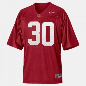 College Football Red #30 For Men's Dont'a Hightower Alabama Jersey 198026-473