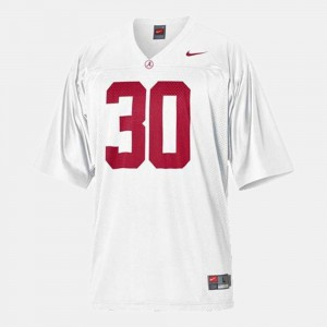 Youth(Kids) White #30 College Football Dont'a Hightower Alabama Jersey 851063-586