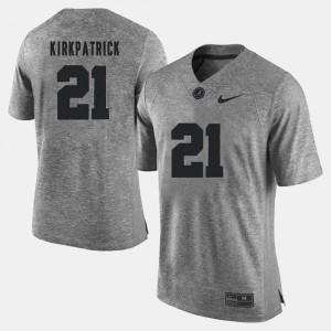 #21 Men Dre Kirkpatrick Alabama Jersey Gray Gridiron Limited Gridiron Gray Limited 152040-495