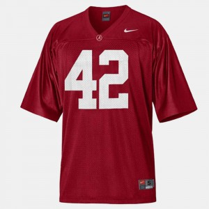 Eddie Lacy Alabama Jersey #42 Red For Men's College Football 424996-337