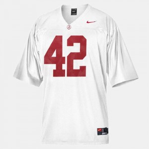 For Kids White Eddie Lacy Alabama Jersey College Football #42 662055-998