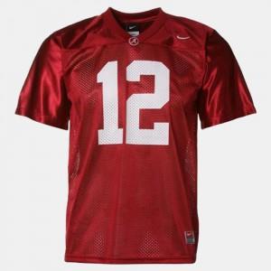 Red For Men's College Football Joe Namath Alabama Jersey #12 902487-844