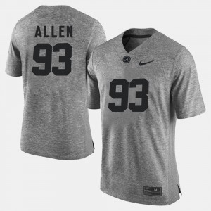 For Men #93 Jonathan Allen Alabama Jersey Gridiron Limited Gray Gridiron Gray Limited 327410-840