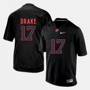 Black College Football Mens #17 Kenyan Drake Alabama Jersey 394826-829