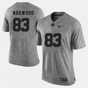 Kevin Norwood Alabama Jersey Gray Men's Gridiron Limited Gridiron Gray Limited #83 691143-629