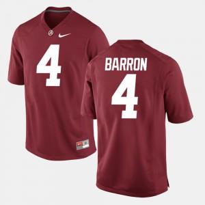 Crimson #4 Alumni Football Game For Men's Mark Barron Alabama Jersey 754581-779