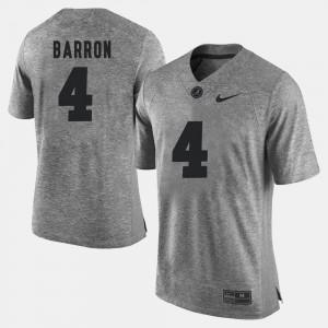 Mark Barron Alabama Jersey Gray Gridiron Gray Limited #4 Mens Gridiron Limited 513896-195