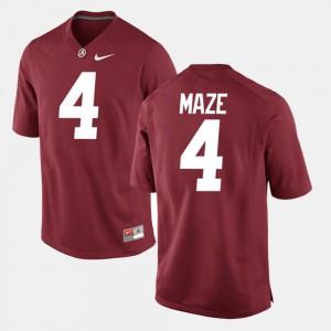 Marquis Maze Alabama Jersey For Men's Alumni Football Game #4 Crimson 985867-497