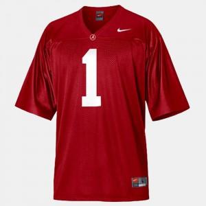 Nick Saban Alabama Jersey College Football #1 Red For Men's 650945-571