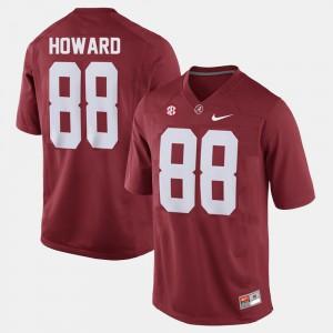 Red College Football #88 For Men O.J. Howard Alabama Jersey 444367-603