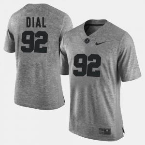 Gray Gridiron Limited #92 Mens Gridiron Gray Limited Quinton Dial Alabama Jersey 846048-356