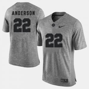 Ryan Anderson Alabama Jersey Gridiron Gray Limited Gridiron Limited Gray Mens #22 813351-226