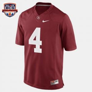 #4 College Football T.J. Yeldon Alabama Jersey Red Men 604077-952