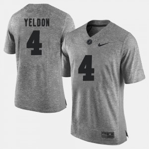 Gray For Men T.J. Yeldon Alabama Jersey Gridiron Limited Gridiron Gray Limited #4 501690-262