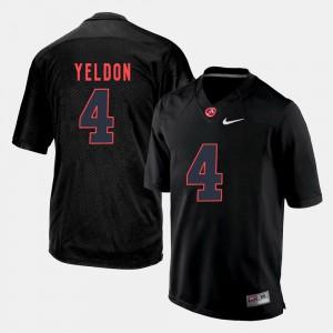 Black T.J. Yeldon Alabama Jersey Silhouette College Mens #4 779770-402
