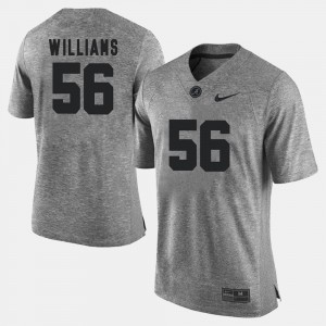 #56 Tim Williams Alabama Jersey Gridiron Gray Limited For Men Gridiron Limited Gray 850661-555