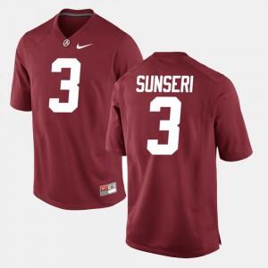 Crimson For Men's Vinnie Sunseri Alabama Jersey #3 Alumni Football Game 543146-900