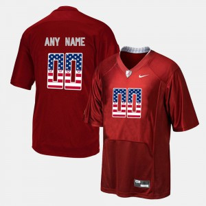 Alabama Custom Jerseys #00 Red US Flag Fashion For Men 963225-333