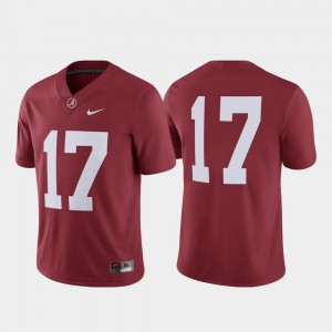 For Men #17 Alabama Jersey College Football Crimson Game 783483-534